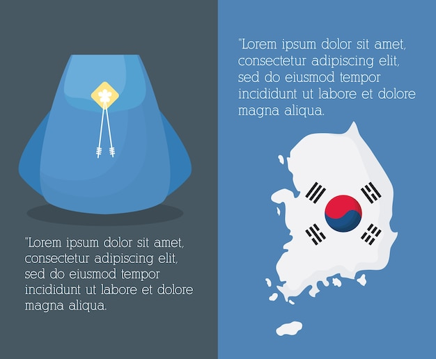 Infographic of south korea design