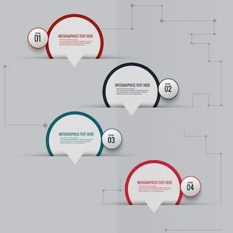 Infographic speech bubbles