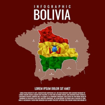 Infographic state of bolivia