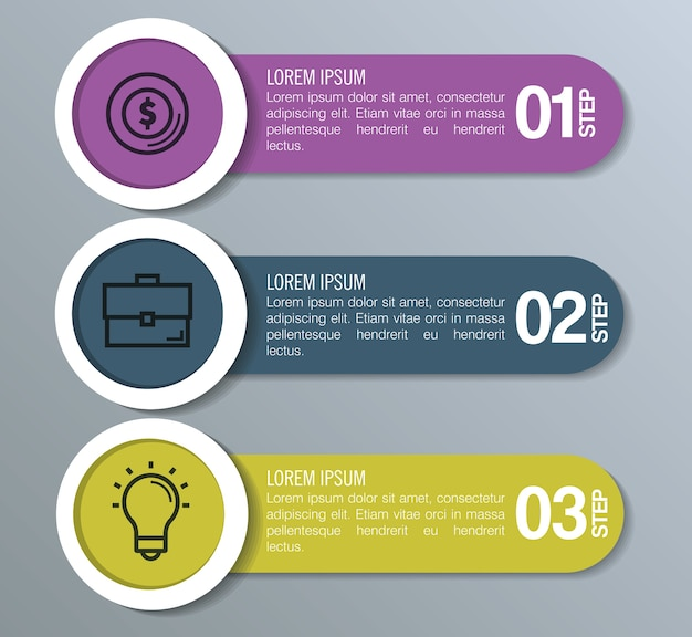 Infographic statistics with business elements