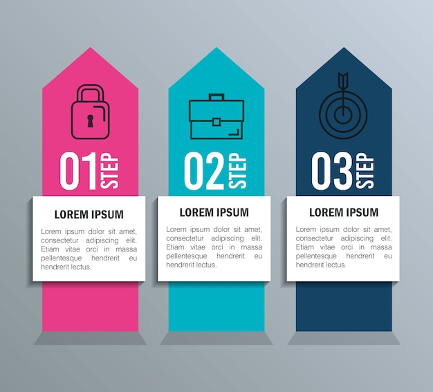 Инфографическая статистика с бизнес-элементами