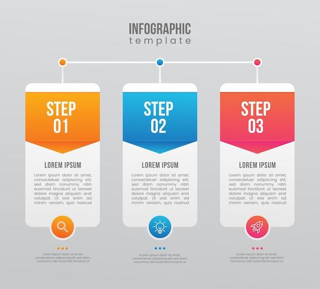 Инфографический шаг для презентационного бизнеса