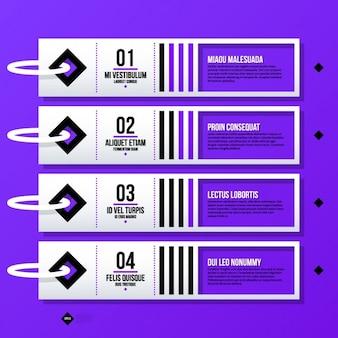 Etichette passo infographic