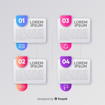 Infographic steps collection flat design