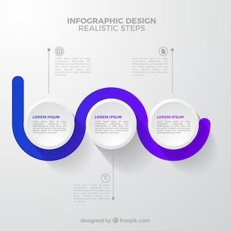 현실적인 스타일의 infographic 단계 수집