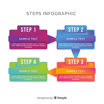Infographic steps collection template