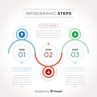 Infographic steps concept in flat design