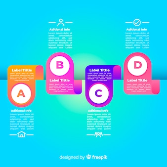 Infographic steps concept with gradient colors