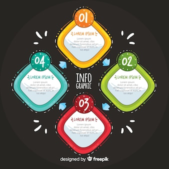 Infographic steps concept