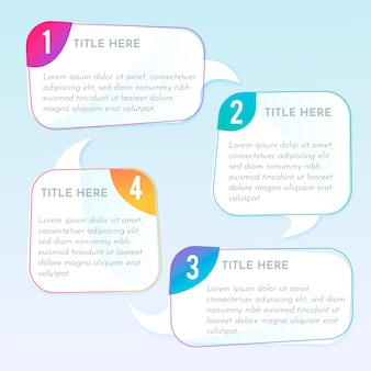 Infographic steps gradient style
