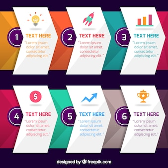 Infographic steps in gradient colors