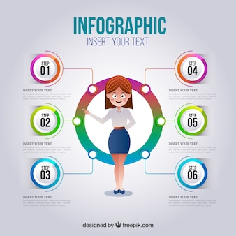 Infographic steps  in realistic style