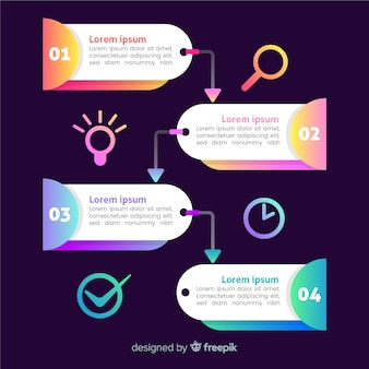 Infographic steps template flat design