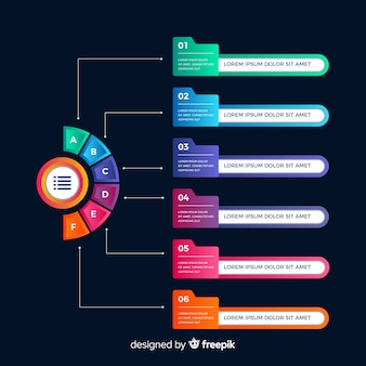 Infographic steps template