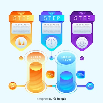 Infographic steps