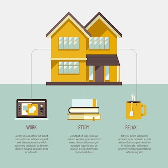 Infographic style stay at home