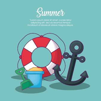 Infographic of summer concept