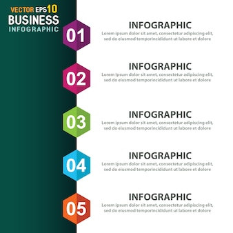 Infographic tempate with 5 options
