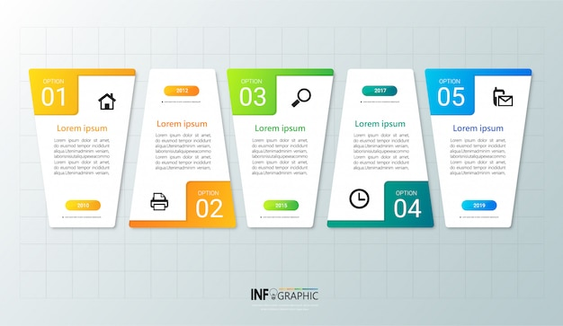 Infographic template 5 options