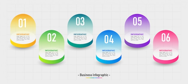 Infographic template 6 options.
