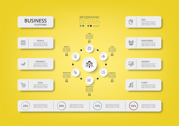 Infographic template business concept