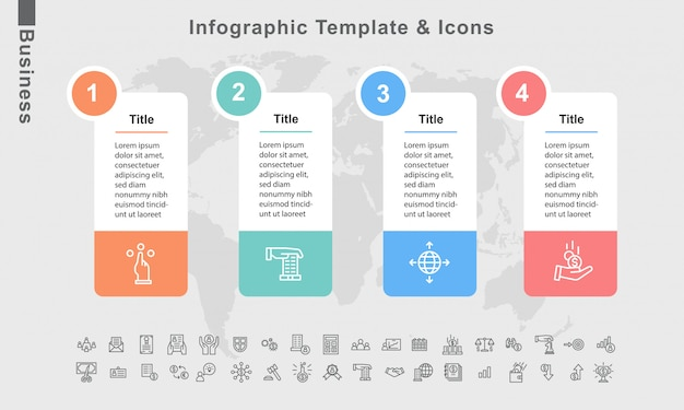 Infographic template and business elements vector flowchart diagram layout