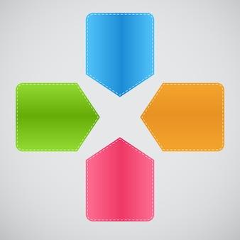 インフォグラフィックテンプレートビジネスベクトル図