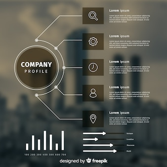 Infographic template for business with photo
