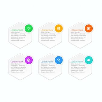 Инфографический шаблон может быть адаптирован к вашим потребностям