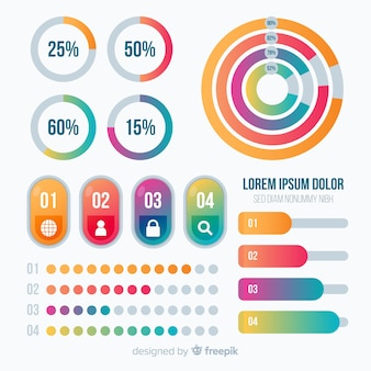 Infographic template in colorful gradient style