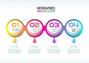 Infographic template design for Business