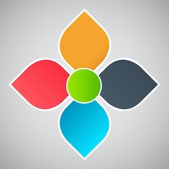 インフォグラフィックテンプレートデザインベクトル図
