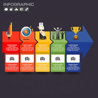 Infographic template design with icons and options.