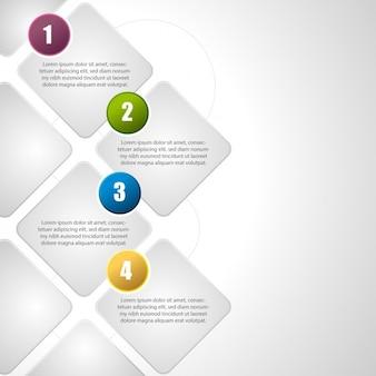 インフォグラフィックテンプレートデザイン