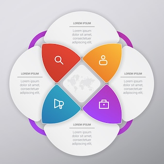 Дизайн инфографического шаблона