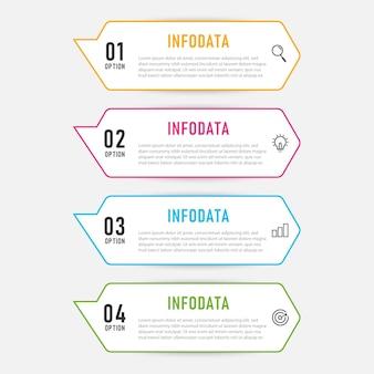 インフォグラフィックテンプレート要素。