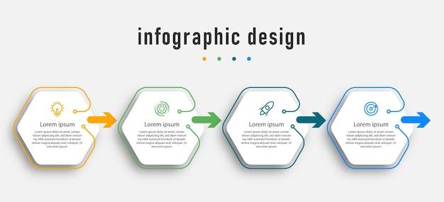 Элементы шаблона инфографики.