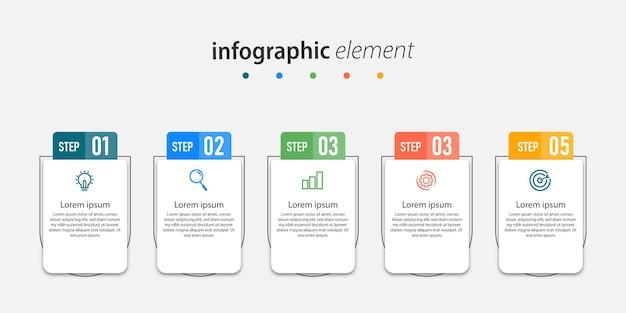 Элементы шаблона инфографики