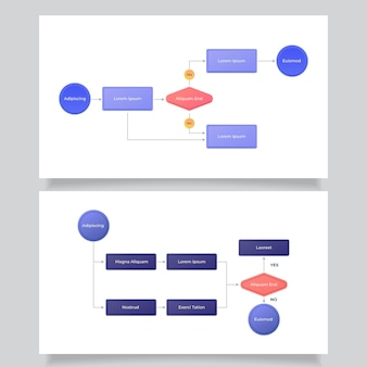Infographic template for flow diagram
