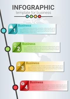 Инфографический шаблон для шагов к успеху в бизнесе