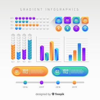 Infographic template in gradient style