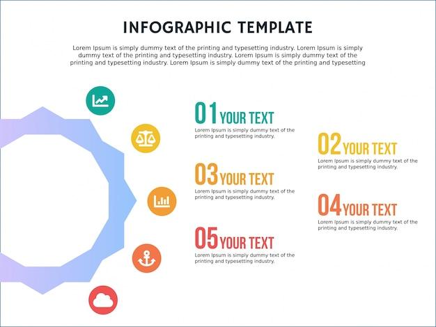 Infographic 템플릿 6 각형 단계 프로파일 및 파워 포인트