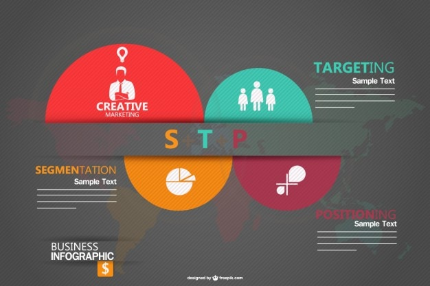 Infographic template for marketing