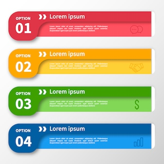 Infographic template multicolor banner design