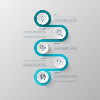 Infographic template with 3d circle