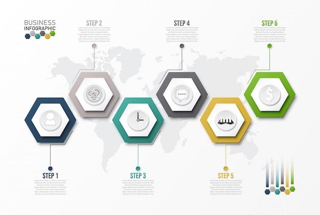 Инфографики шаблон с 3d бумаги.