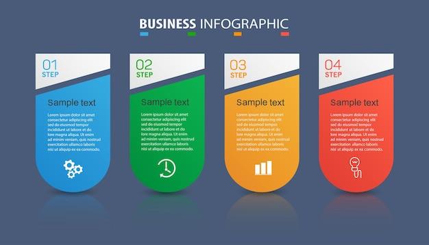 ビジネスのための4つのオプションを持つインフォグラフィックテンプレート