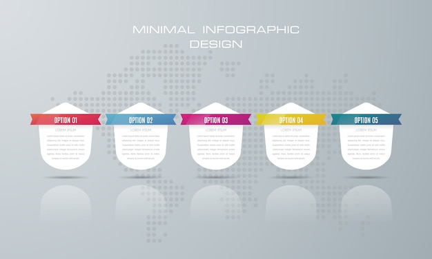 Infographic template with 5 options