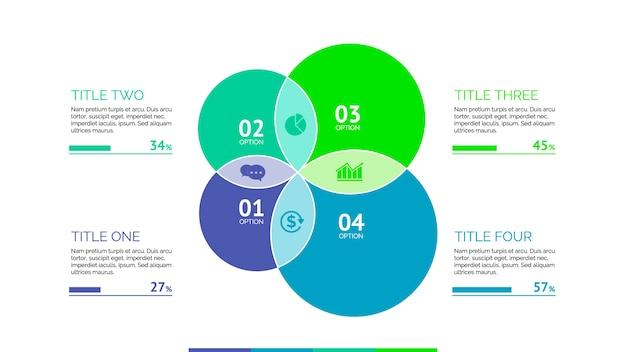 Modello infographic con cerchi