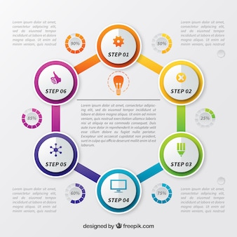 Infographic template with circular shapes